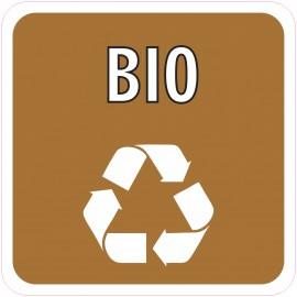 Naklejka NS40 segregacja odpadów na kosz na śmieci BIO