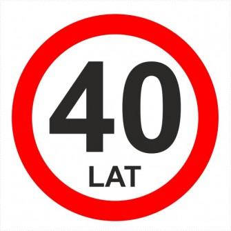 Znak urodzinowy 40 lat