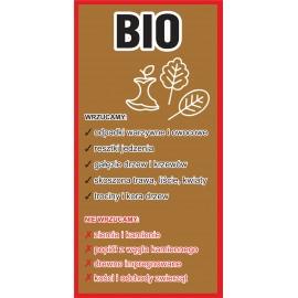 Naklejka NS43 na kosz na śmieci Bio