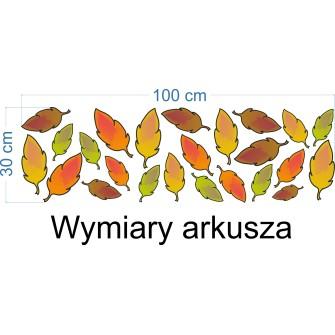 Naklejka ścienna SD49 kolorowe liście