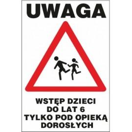 tabliczka dzieci pod opieką DPO01 biegnące dzieci