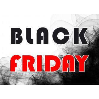Naklejka na witrynę - W02A 41x57cm BLACK FRIDAY czarny tiul
