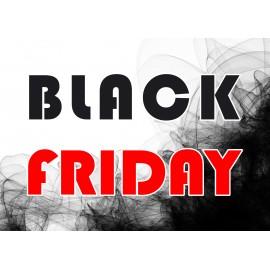 Naklejka na witrynę - W02A 57x80cm BLACK FRIDAY czarny tiul