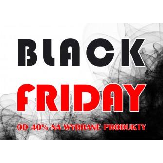 Naklejka na witrynę - W02C 41x57cm BLACK FRIDAY czarny tiul