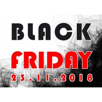 Naklejka na witrynę - W02D 41x57cm BLACK FRIDAY czarny tiul
