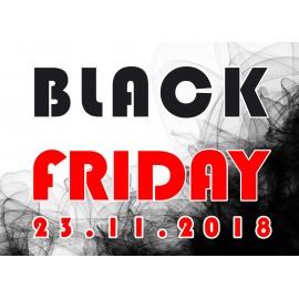 Naklejka na witrynę - W02D 57x80cm BLACK FRIDAY czarny tiul