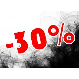 Naklejka na witrynę - W02F30 21x30cm BLACK FRIDAY czarny tiul