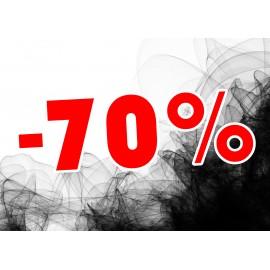 Naklejka na witrynę - W02F70 21x30cm BLACK FRIDAY czarny tiul