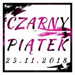 Naklejka na witrynę - W03D 45x45cm CZARNY PIĄTEK 23.11.2018