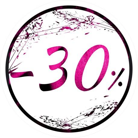 Naklejka na witrynę - W03G30 śr.25cm CZARNY PIĄTEK 30%