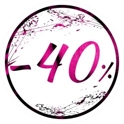 Naklejka na witrynę - W03G40 śr.25cm CZARNY PIĄTEK 40%