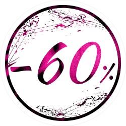 Naklejka na witrynę - W03G60 śr.40cm CZARNY PIĄTEK 60%