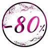 Naklejka na witrynę - W03G80 śr.25cm CZARNY PIĄTEK 80%