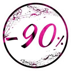 Naklejka na witrynę - W03G90 śr.25cm CZARNY PIĄTEK 90%
