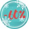 Naklejka na witrynę - W04i60 płatki -60%