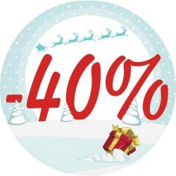 Naklejka na witrynę - W05L40 wyprzedaż -40% święta