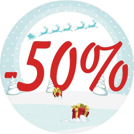 Naklejka na witrynę - W05L50 wyprzedaż -50% święta