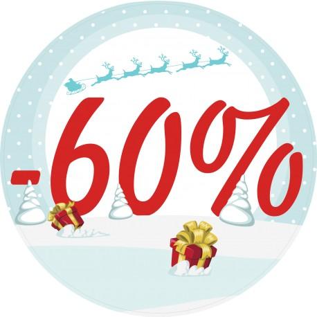 Naklejka na witrynę - W05L60 wyprzedaż -60% święto