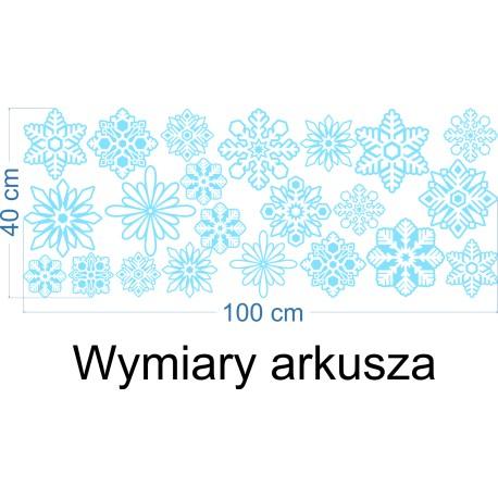 Naklejka na witrynę - W06A płatki śniegu