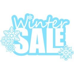 Naklejka na witrynę - W06C winter sale 29x45cm