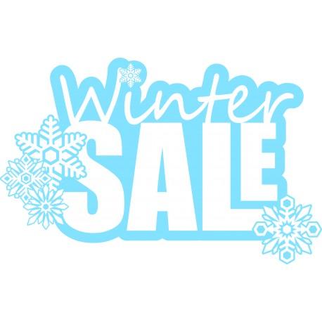 Naklejka na witrynę - W06C winter sale 45x70cm
