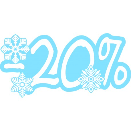 Naklejka na witrynę - W06D20 wyprzedaż -20% Winter Sale