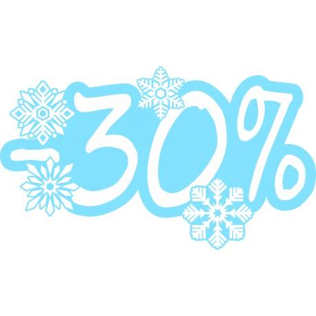 Naklejka na witrynę - W06D30 wyprzedaż -30% Winter Sale
