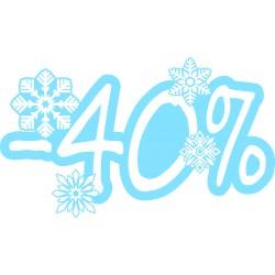 Naklejka na witrynę - W06D40 wyprzedaż -40% Winter Sale