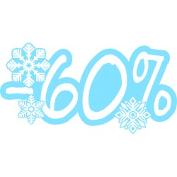 Naklejka na witrynę - W06D60 wyprzedaż -60% Winter Sale