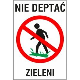 tabliczka nie deptać ND02 nie deptać zieleni