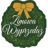 Naklejka na witrynę - W07C Zimowa wyprzedaż zielone święta