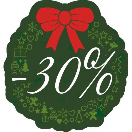 Naklejka na witrynę - W07D30 zielone święta rabaty -30%