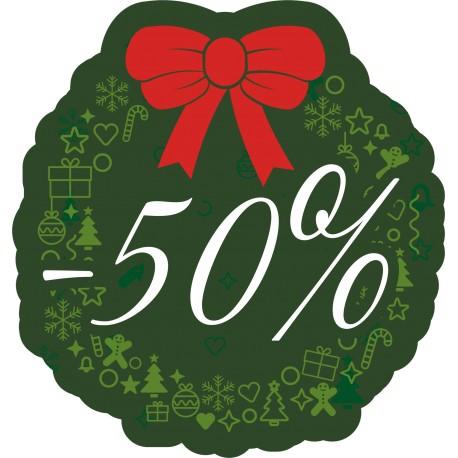 Naklejka na witrynę - W07D40 zielone święta rabaty -40%