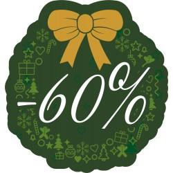 Naklejka na witrynę - W07D60 zielone święta rabaty -60%