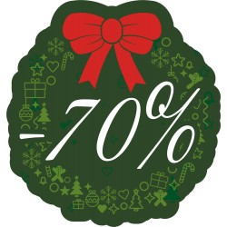 Naklejka na witrynę - W07D70 zielone święta rabaty -70%