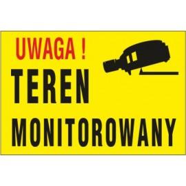 tabliczka teren monitorowany TM01 uwaga teren monitorowany