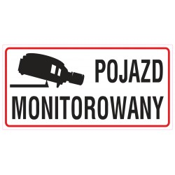 naklejka INZ19 pojazd monitorowany