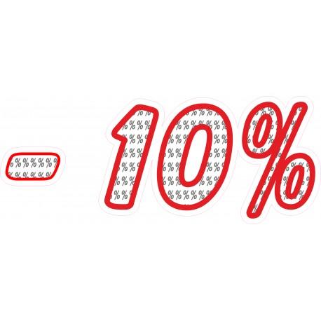 Naklejka na witrynę - WP1A10 procenty rabaty -10%