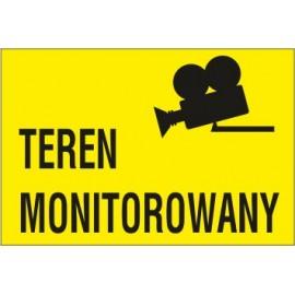tabliczka teren monitorowany TM03 teren monitorowany stara kamera