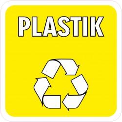 Naklejka NS48 Plastik odpadów na kosz na śmieci sztuczne