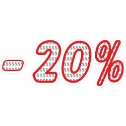 Naklejka na witrynę - WP1A20 procenty rabaty -20%