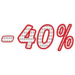 Naklejka na witrynę - WP1A40 procenty rabaty -40%