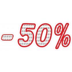 Naklejka na witrynę - WP1A50 procenty rabaty -50%