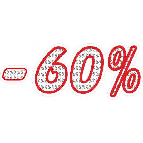 Naklejka na witrynę - WP1A60 procenty rabaty -60%