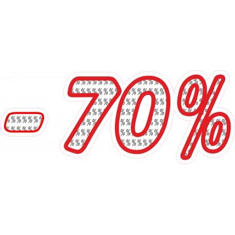 Naklejka na witrynę - WP1A70 procenty rabaty -70%