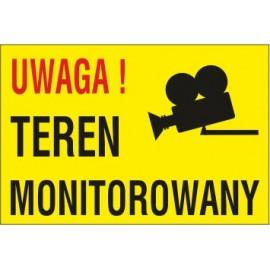 tabliczka teren monitorowany TM04 uwaga teren monitorowany stara kamera