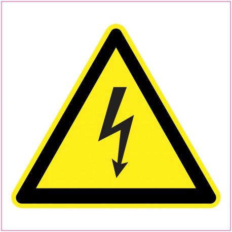 Naklejka Piktogram UK18 Ostrzeżenie przed porażeniem prądem elektrycznym