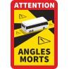 Naklejka NP02 ANGLES MORTS Autobus martwe pole Francja