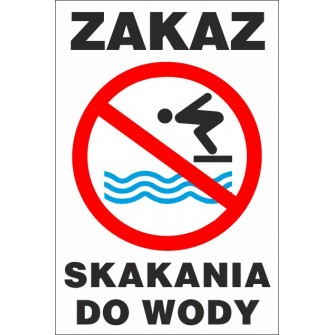 zakaz skakania do wody ZK03