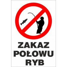 zakaz połowu ryb ZŁ06 rysunek wędkarza
